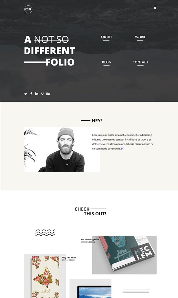 DIFF. Free PSD Web Template