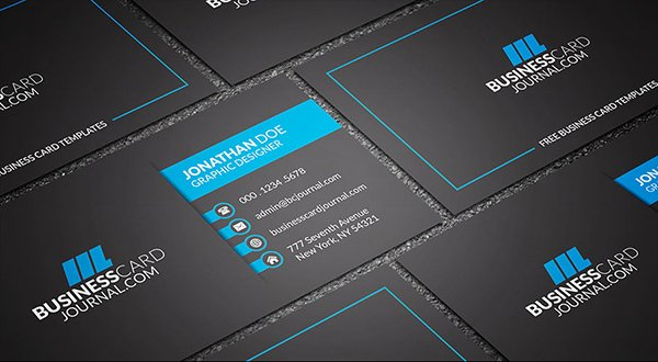 30 amazing free business card psd templates dark bold corporate business card template accmission Images
