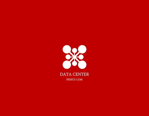 Data Logo Template PSD