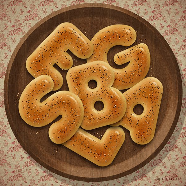 Delicious Bagels Text Effect