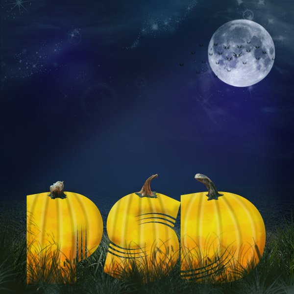 Design A Halloween Pumpkin Patch Text Effect