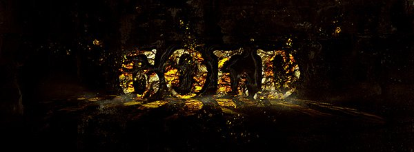 Design A Hot Golden Text With Disintegration Effect In Photoshop