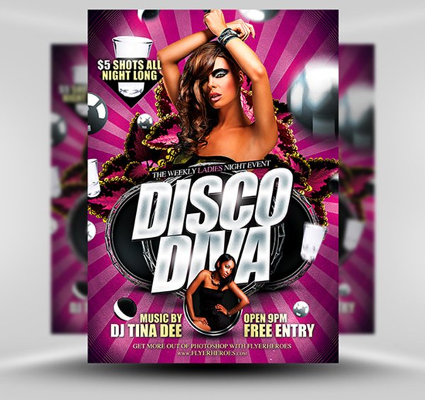 Disco Diva Flyer Template