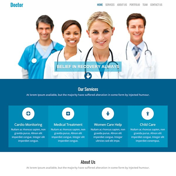 Doctor-Free Responsive Website Template