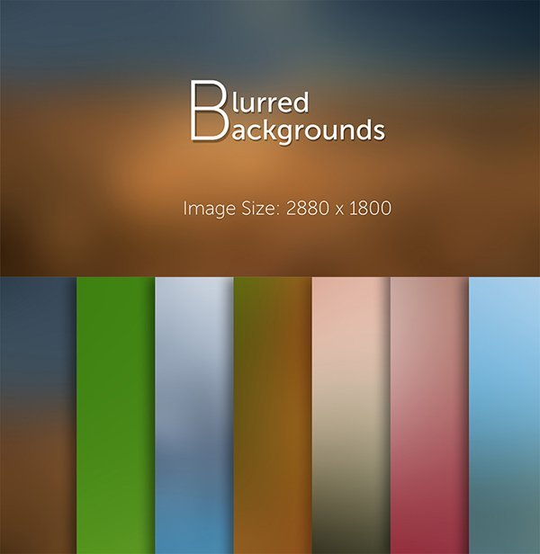 7 Blurred Backgrounds