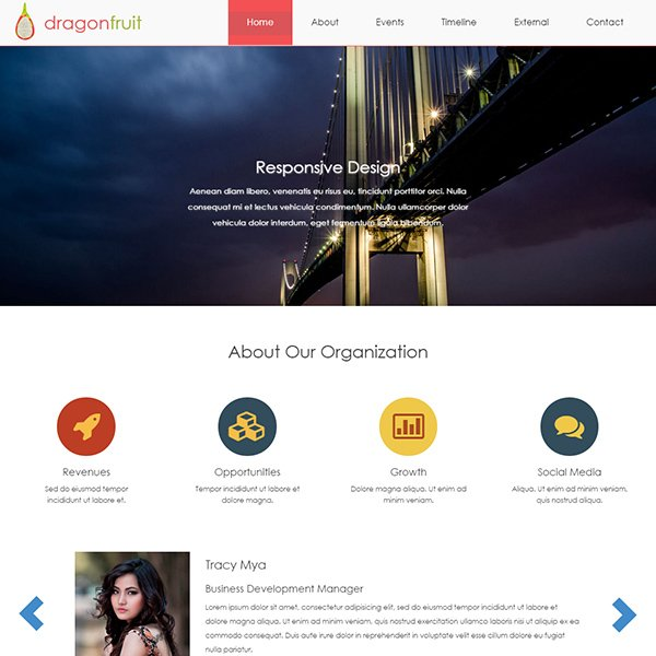 Free Bootstrap Themes Templates - Timeline website template