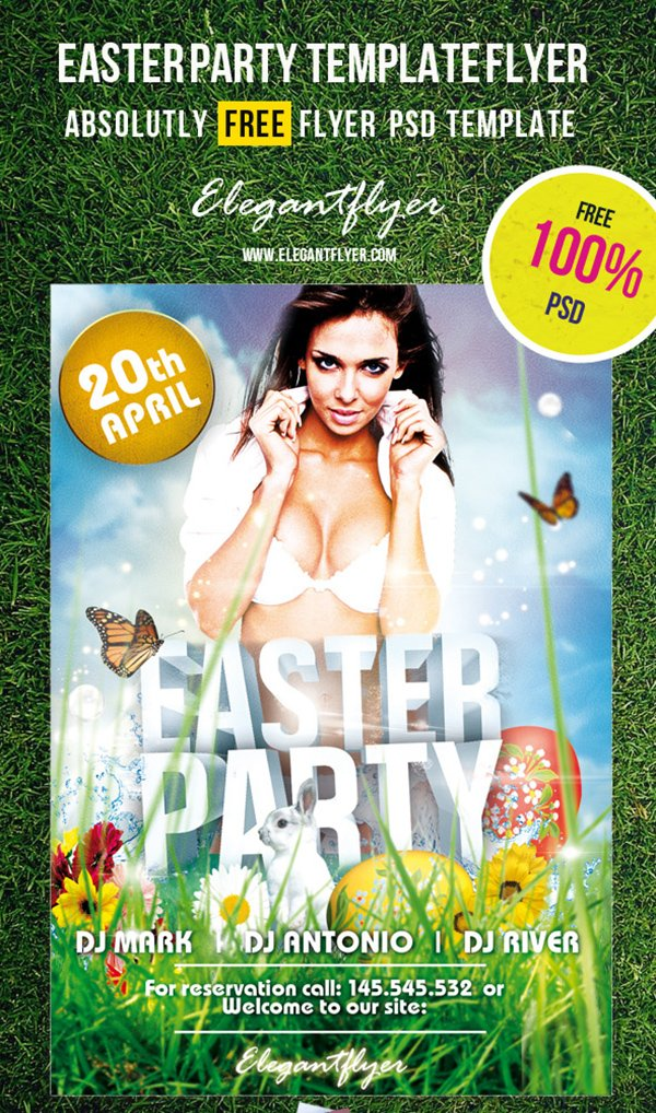 EasterParty -Free PSD Flyer Template