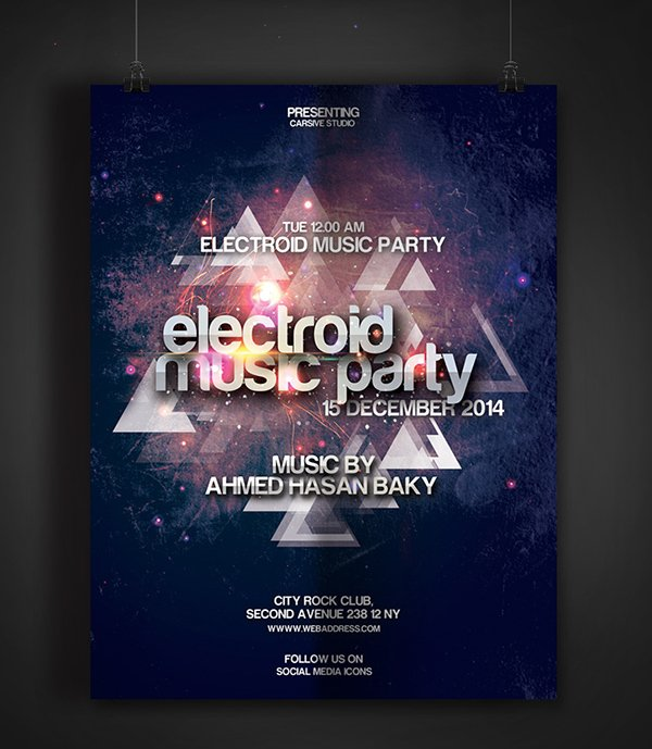 Electroid Party Flyer Template