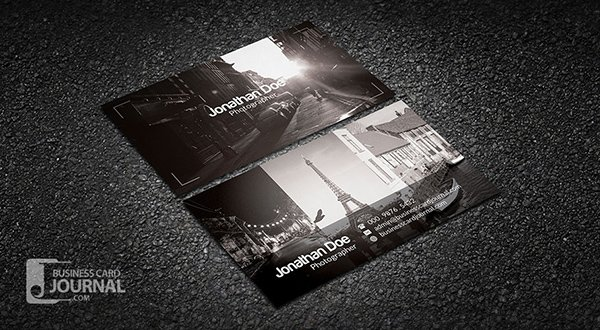 Amazing Free Business Card PSD Templates - Photography business card templates