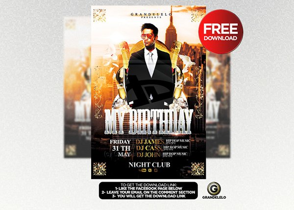 ... 90 Awesome Free PSD Flyer Templates Page 3 Of 3 U2013 Birthday Flyer  Templates Free ...