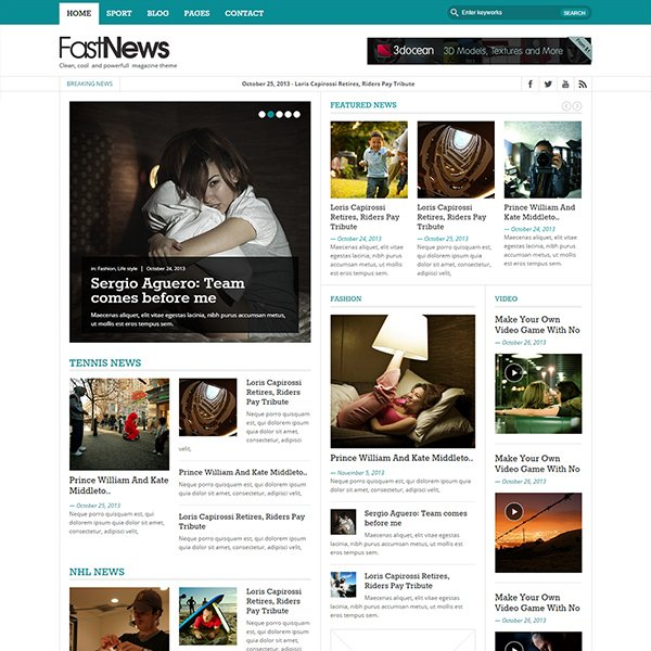 Fast News- Magazine WordPress theme (Light version)