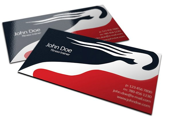 Fitness Trainer Business Cards Design