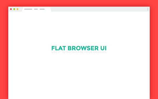 Flat Browser UI