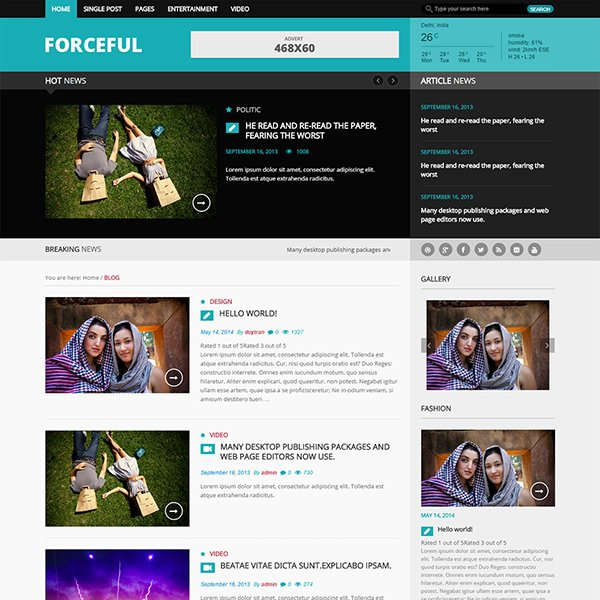 ForceFul Magazine WordPress Theme (Light version)