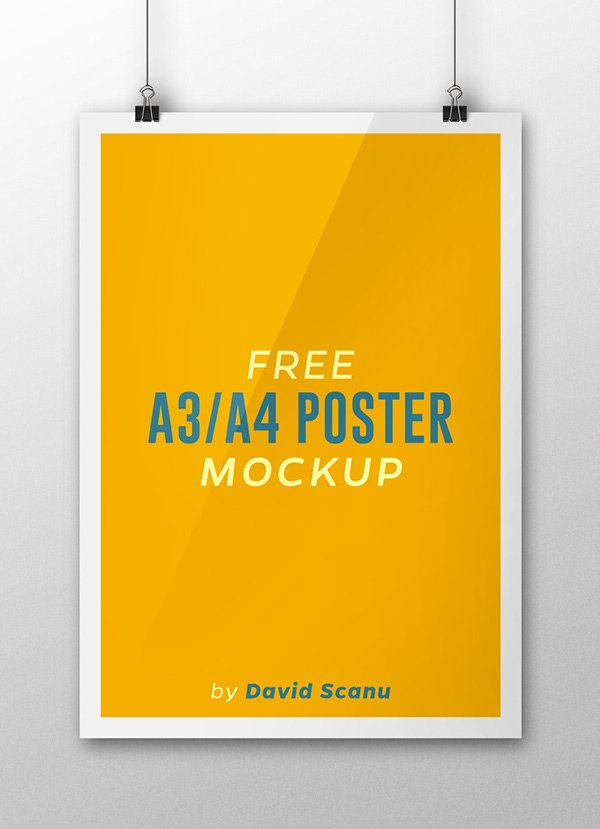 Free A3 / A4 Poster Mock Up