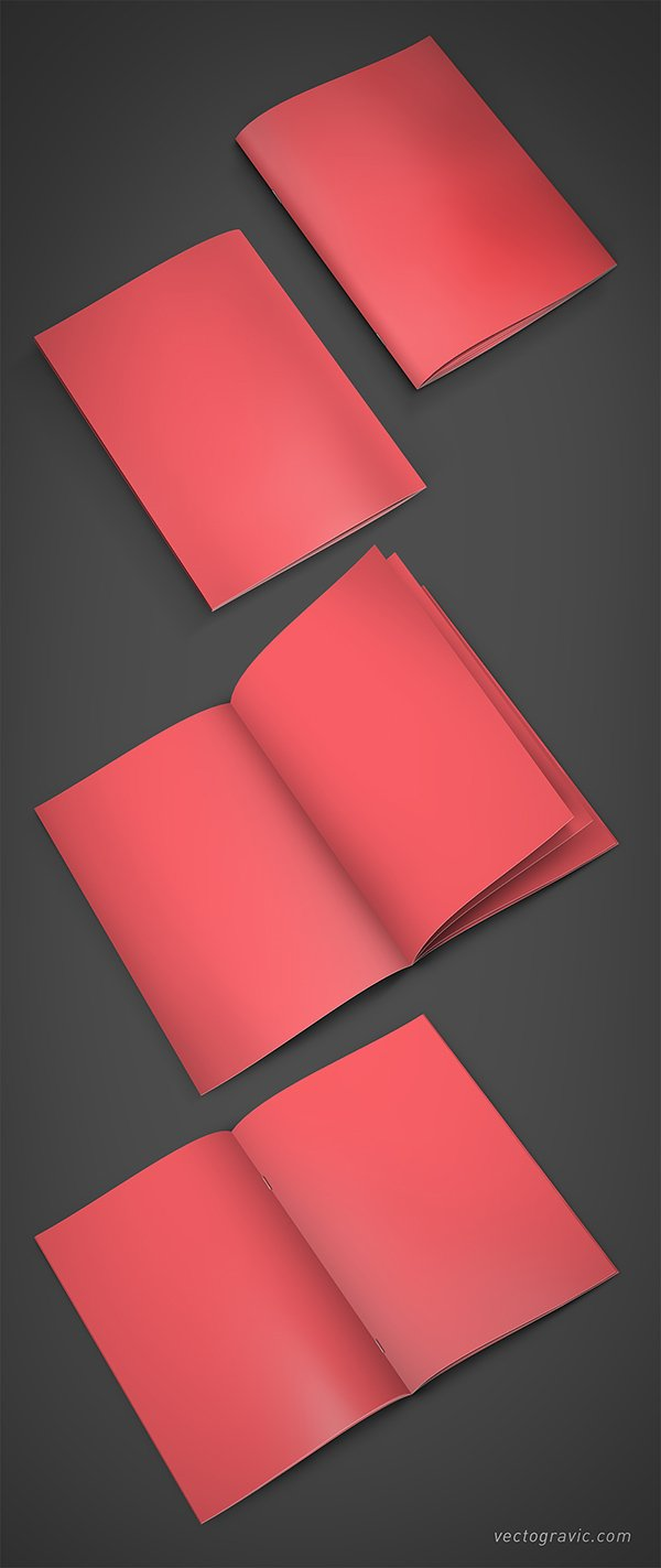 A4 Booklet Mockup