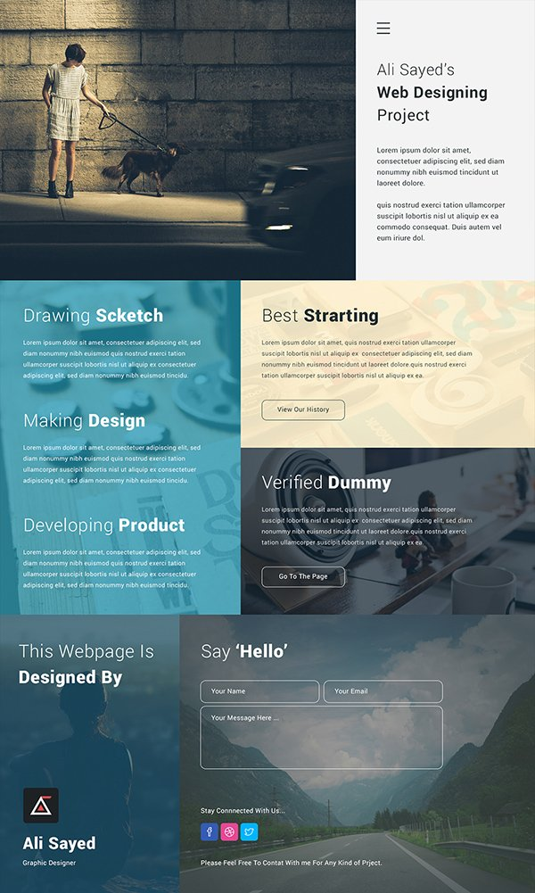 Creative Minimal Business Agency Webpage Design
