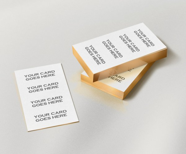 Free Gold Edge Letterpress Bcard Mock-up