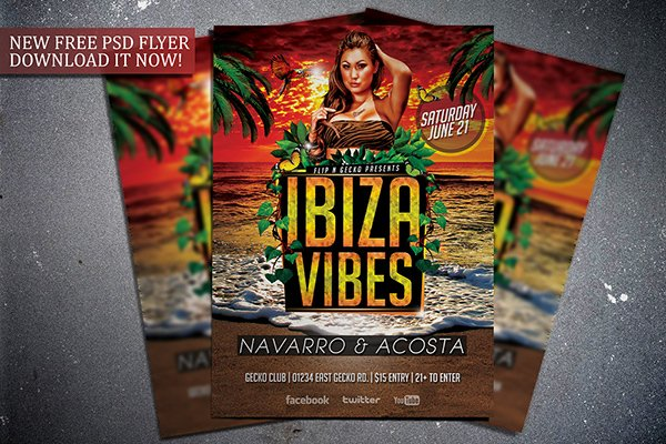 Free Ibiza Vibes Flyer Template