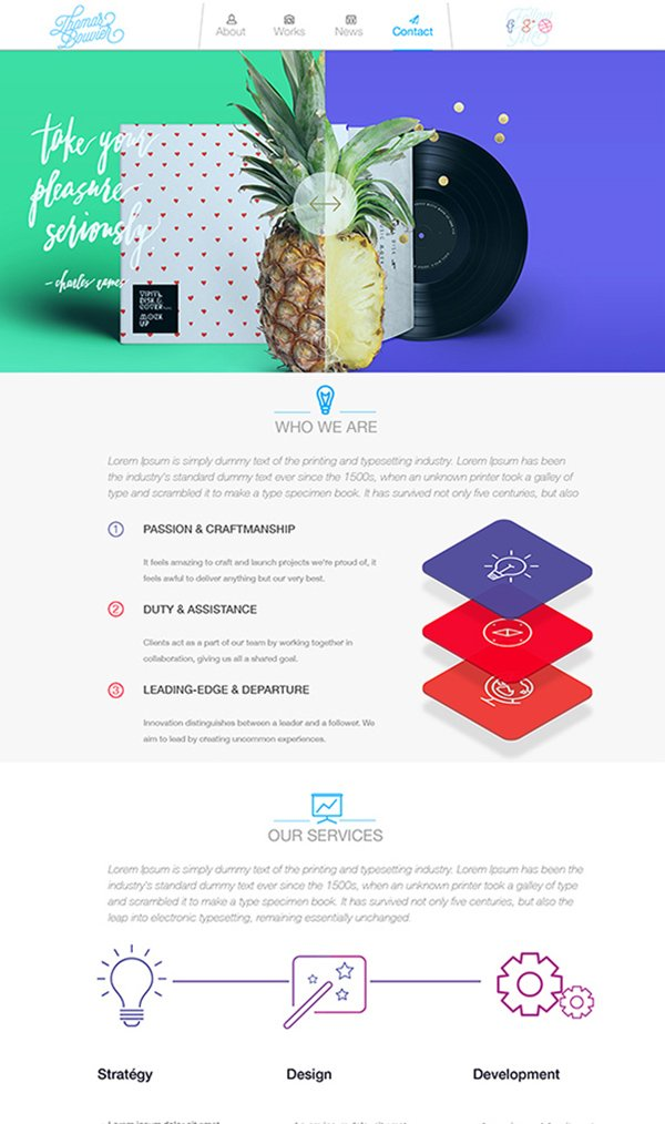 Free Landing Page PSD Website Template