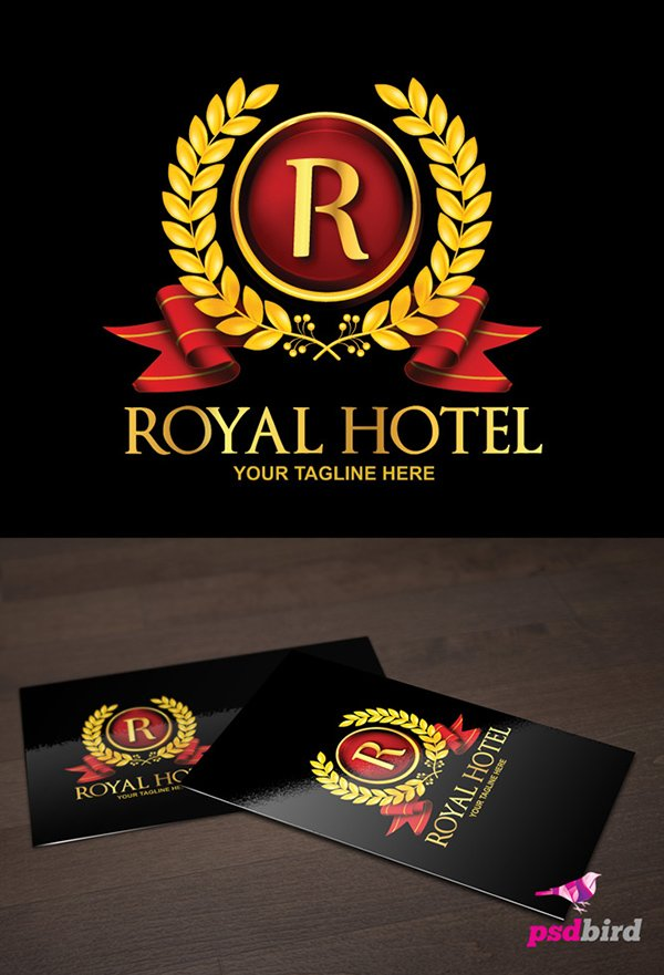 Free Royal Hotel Logo Template PSD
