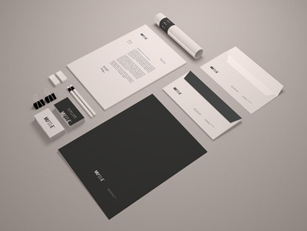 Free Stationary Mockup Template