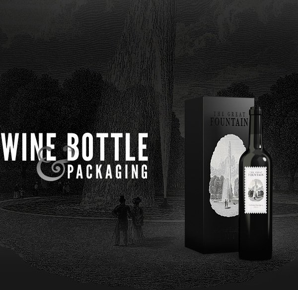 Wine Bottles - Free PSD Mock-up Template