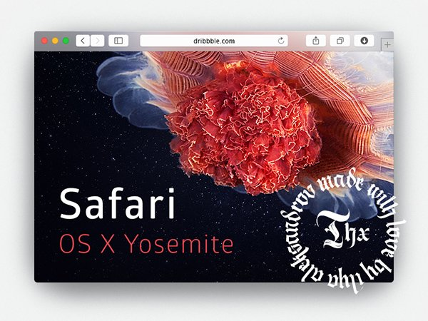 Free PSD Safari Yosemite Browser Mockup