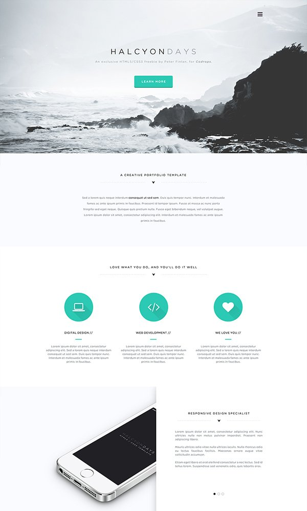 Halcyon Days Website PSD
