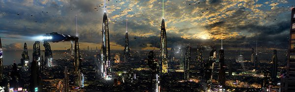 Futuristic City 4 Dual Desktop