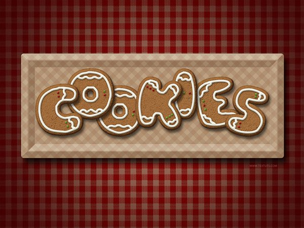 Gingerbread Cookies Text Effect