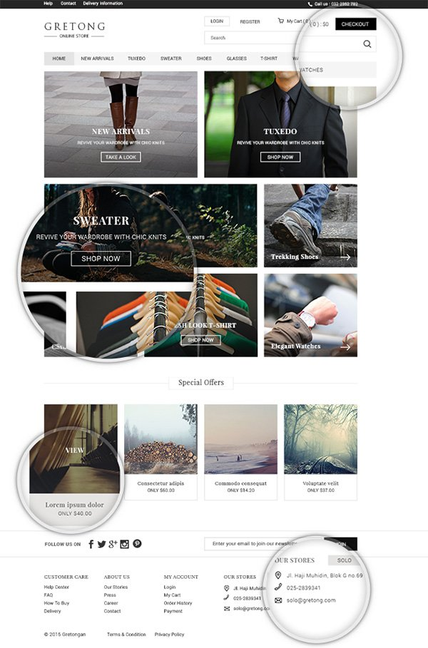 Gretong - Free Simple eCommerce PSD
