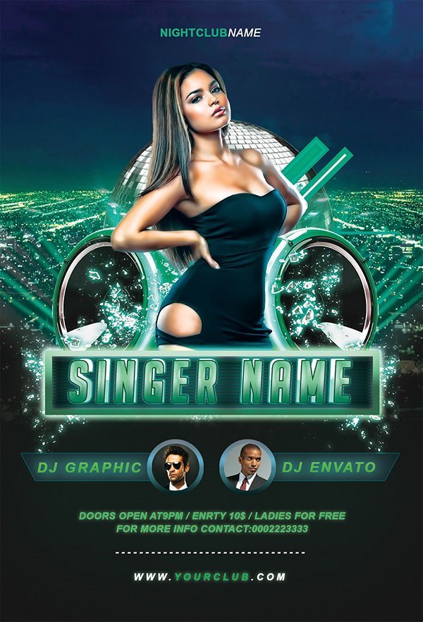 Free Party  Club Flyer Templates