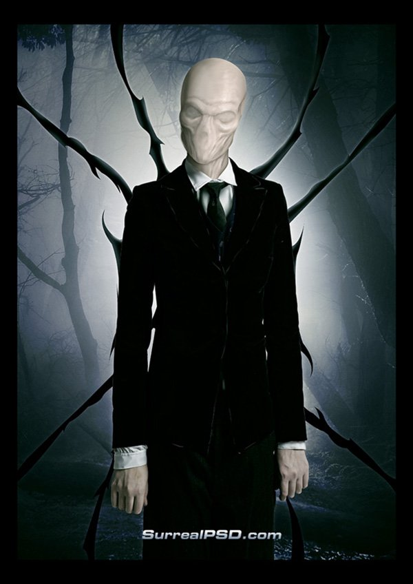 Halloween Photoshop: Slenderman Walkthrough