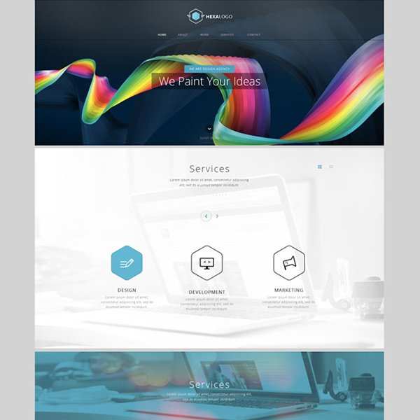 Hexa Free Website Template