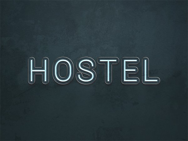 Hostel Text Effect