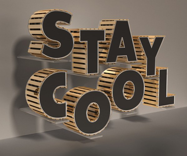 How To Create A Stylish Black And Gold 3D Text Effect In Photoshop