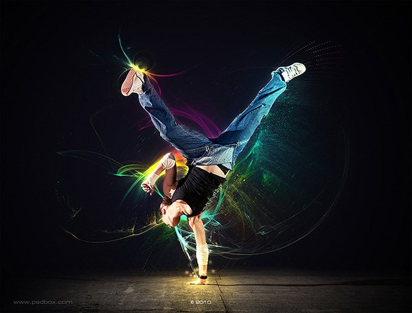 How to create a light dancer in photoshop