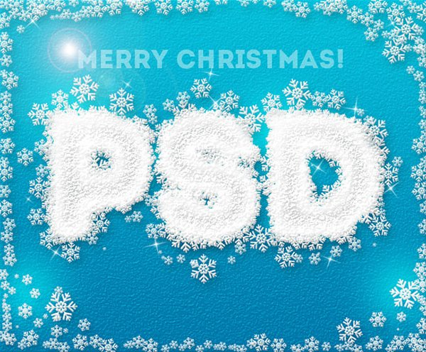 Ice Snowflakes Text Effect In Photoshop