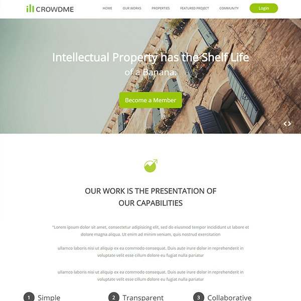 Icrowdme Single Page Multipurpose Bootstrap Template