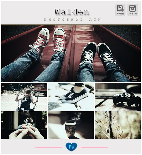 Instagram Walden Photoshop Action