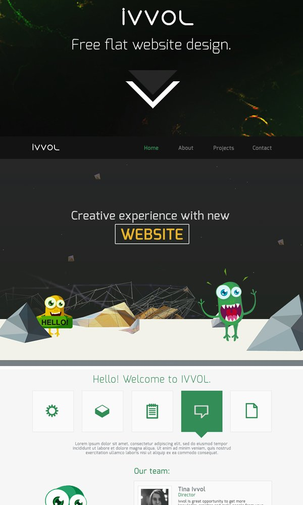 Ivvol - Free Website Template