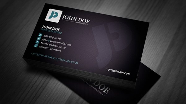 30 amazing free business card psd templates john doe business card template wajeb Choice Image