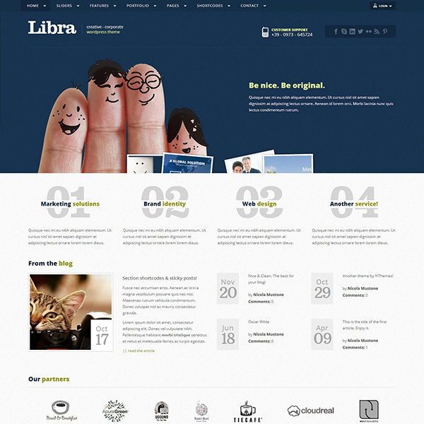 LIBRA – CORPORATE & PORTFOLIO WP THEME