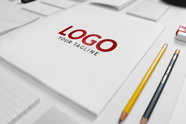 free matte finish logo mock up psd template