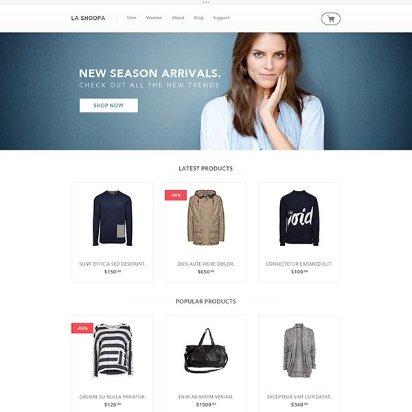 La Shoopa Free PSD eCommerce Website Template