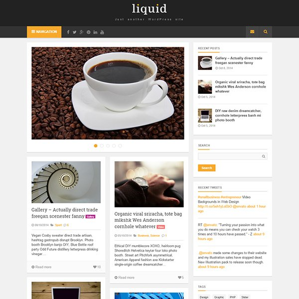 Liquid - Masonry WordPress Theme