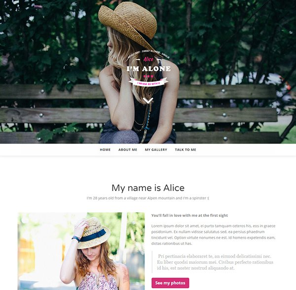 Lonely – Free HTML Bootstrap Template