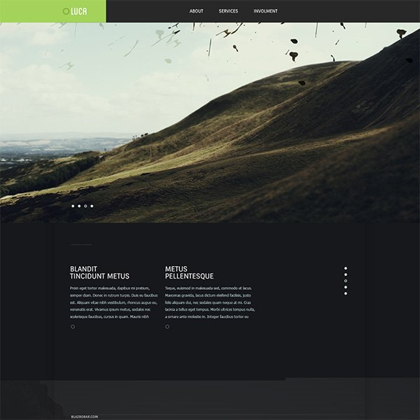 Luca Free PSD Website Template