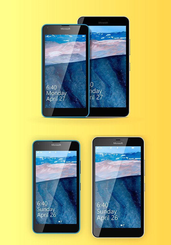 Lumia 640 & 640 XL Vector Template